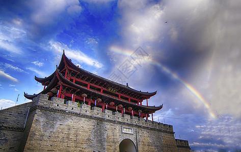 建水古城朝阳楼城门图片
