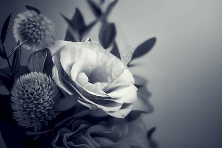 玫瑰花束背景图片