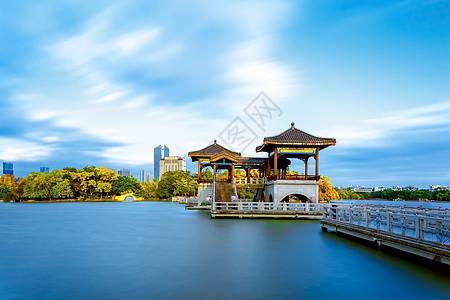 西湖九曲石桥背景图片