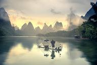 漓江山水黎明图图片