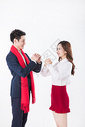 商务男女新年拜年图片