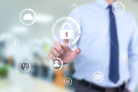 网络连接设备的网络安全和个人数据安全图片