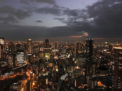 高处俯瞰城市夜景图片