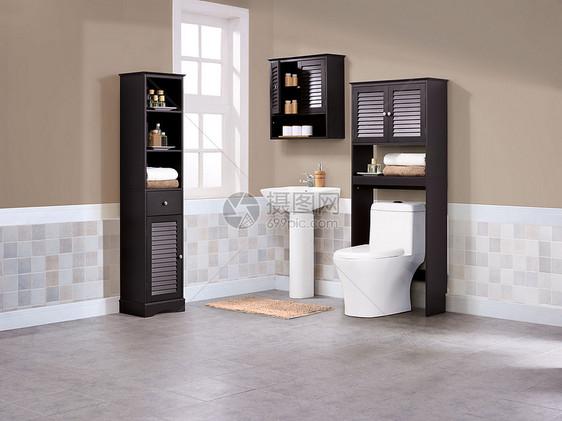 浴室场景背景图片
