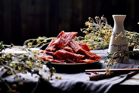 麻辣牛肉干图片