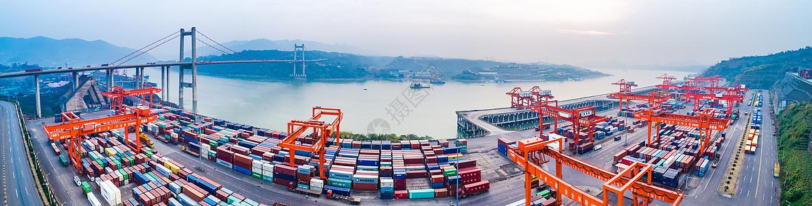 港口码头全景图图片