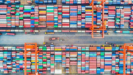 航拍港口运输图片
