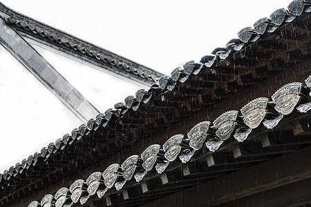 徽派建筑屋檐结构图片