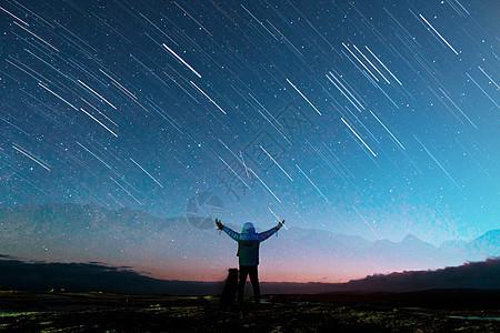 流星雨的星空图片