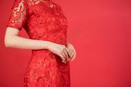 穿着旗袍的美女形象展示图片