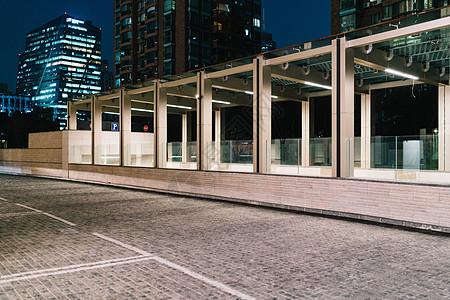 建筑室外停车场高清图片