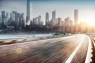 城市汽车公路背景图片