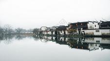 安徽宏村中国水墨画风光图片