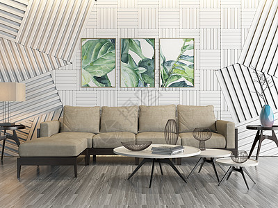 客厅沙发现代简约风图片
