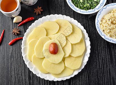 火锅食材薯片图片