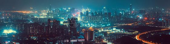 城市夜景全景图片