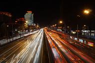 北京冬天马路夜景图片