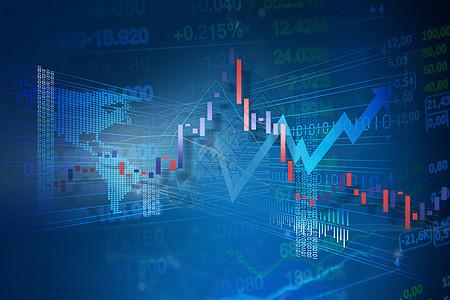 蓝色股市背景图片