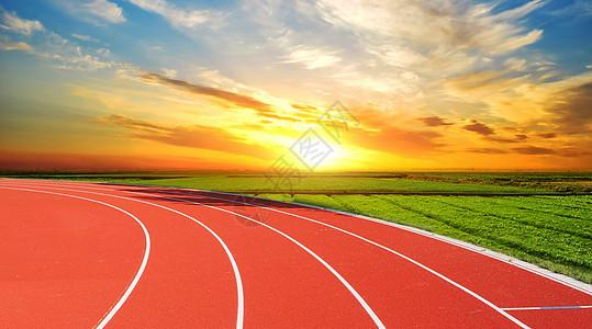 阳光下的跑道图片