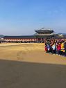 春节韩国首尔的景福宫表演图片