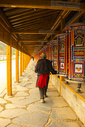 甘南拉卜楞寺转经长廊图片