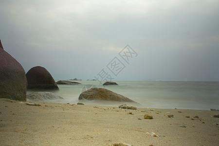 三亚天涯海角慢门海边图片