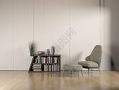 单椅书架家居效果图图片