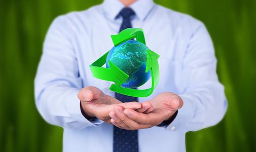 手捧绿色环保地球图片