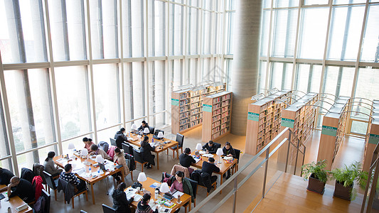 图书馆内部环境高清图片