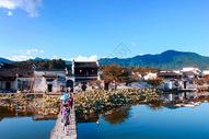 安徽宏村南湖图片