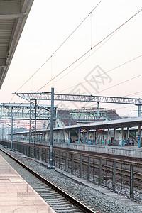 火车车站站台图片