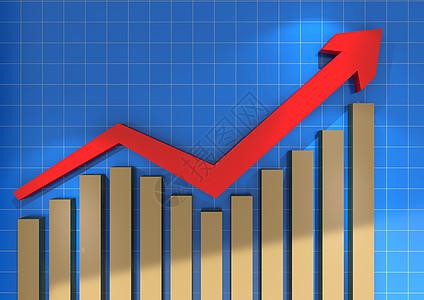 股票金融箭头曲线上升行情图片
