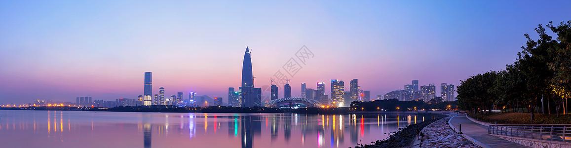 深圳湾夜景图片