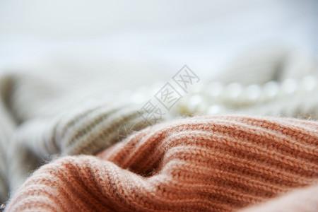 冬天温暖的羊绒毛衣图片