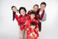 春节家人团聚拜年500773665图片