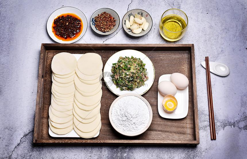 水饺制作图片