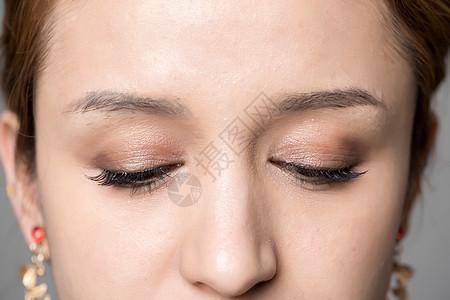 眼部美妆图片