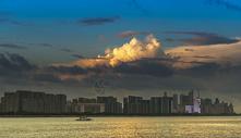 钱江新城夕阳图片