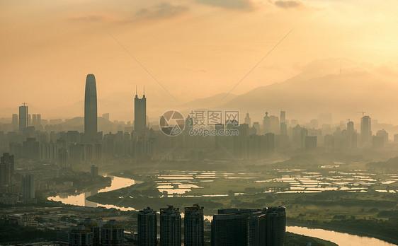深圳城市晨曦图片