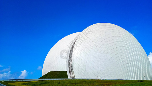 蓝天下的珠海大剧院城市建筑图片