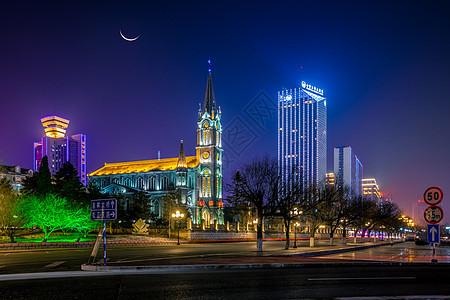 吉林街道夜景图片