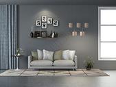 现代简约客厅沙发效果图图片