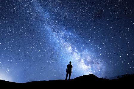 仰望星空银河图片