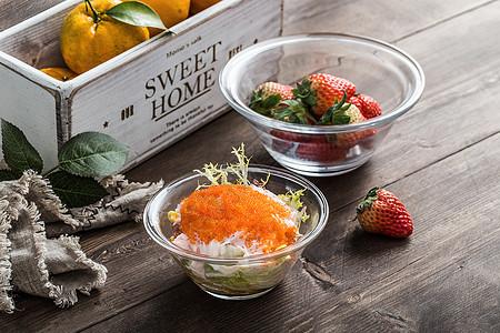 蟹籽沙拉图片
