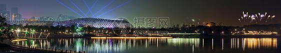 深圳人才公园春茧体育中心夜景图片