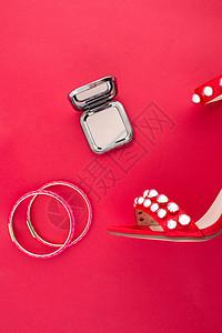 红色高跟鞋配饰素材图片