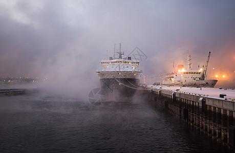 列宁号核动力船港口图片