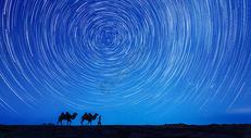 沙漠夜空星空图片