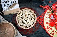 蒸饺煎饺图片