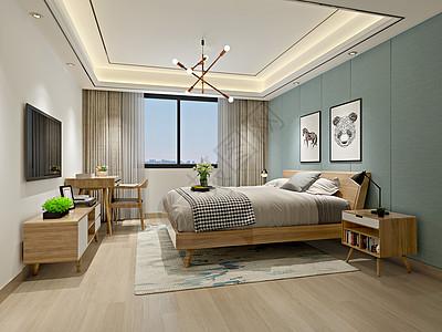 日式臥室室內效果圖高清圖片